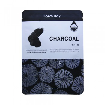 Farm Stay Charcoal Mask  Charcoal Mineral ingredient that contains charcoal helps skin maintain healthy, and helps cleanse and keep skin clean by absorbing skin waste. 10pcs(bag)